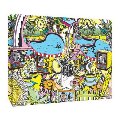 JP London LCNV2286 Retro Cartoon Doodle Mash Up Gallery-Wrapped Canvas Art