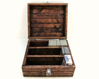 Trading Card Storage Box With Dividers