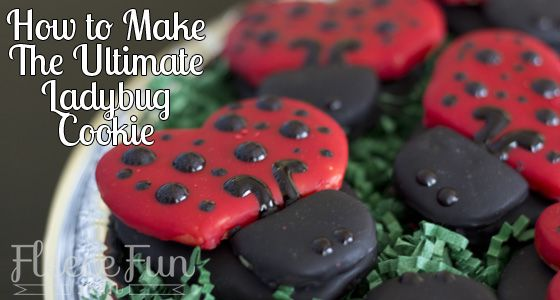 How to make the best looking ladybug cookies!!! Love!