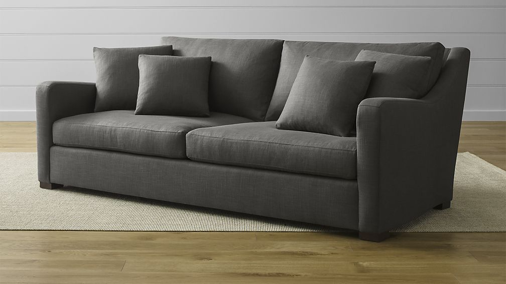 Verano Sofa Crate And Barrel Most Comfortable Couch Use Gunsmoke Fabric From The Ellyson Sectional Line