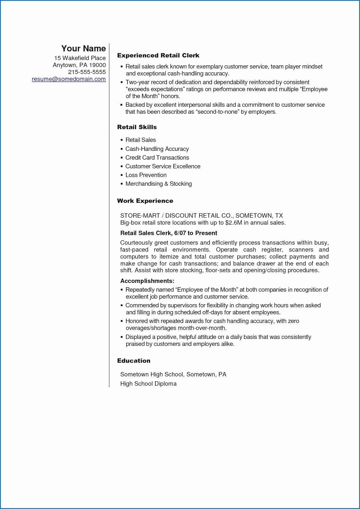 20 Stock Job Description Resume Job description, Resume