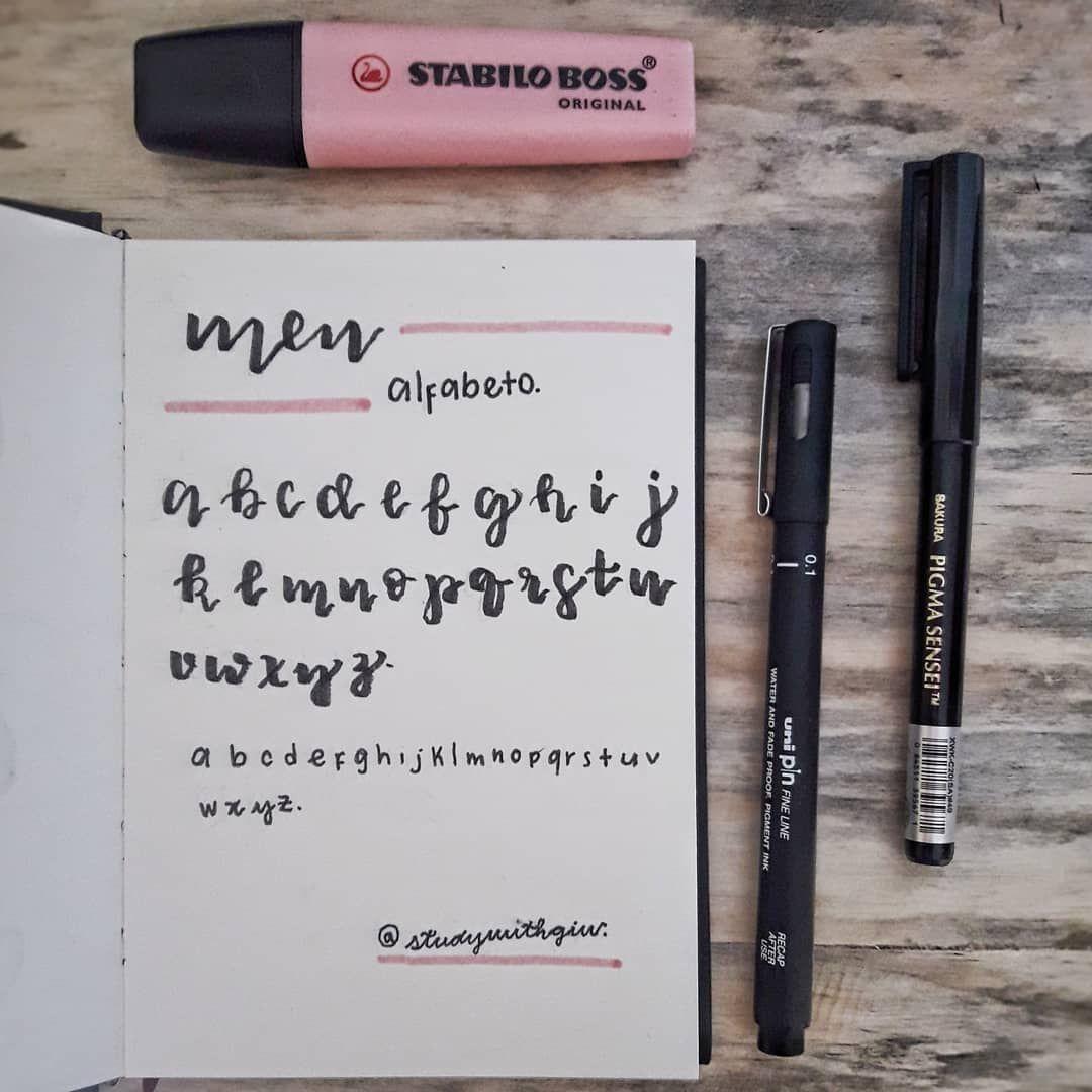 O Meu Alfabeto No Lettering E Na Letra De Mao E Claro Que Eu