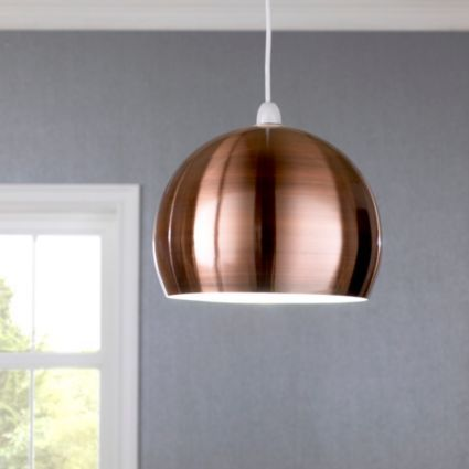 Nell copper pendant light shade d280mm departments diy at bq
