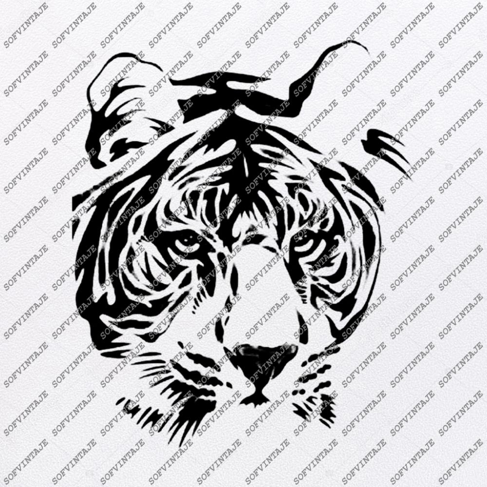 Tiger Svg File Tiger Svg Original Design Tiger Clip Art Animals Svg File Tiger Vector Graphics Svg For Cricut For Silhouette Svg Eps Pdf Dxf Png Jp Vector Graphics Silhouette