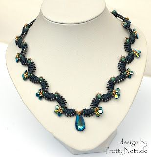 """PrettyNett - beading pattern: Worshop for necklace """"Wave"""""""