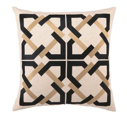 Amazon Com Trina Turk Geometric Tile Down Filled Pillow Black 20 By 20 Inch Throw Pillows Geometric Tiles Throw Pillows Designer Throw Pillows