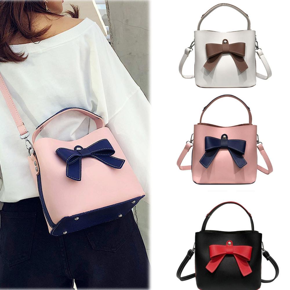 Bolso de mujer Bolso de hombro simple de moda Bolso de mensajero lindo Bolso de cuero Bolso de Bao Bao Bolsa Feminina # BA30-En bolsos con asa superior