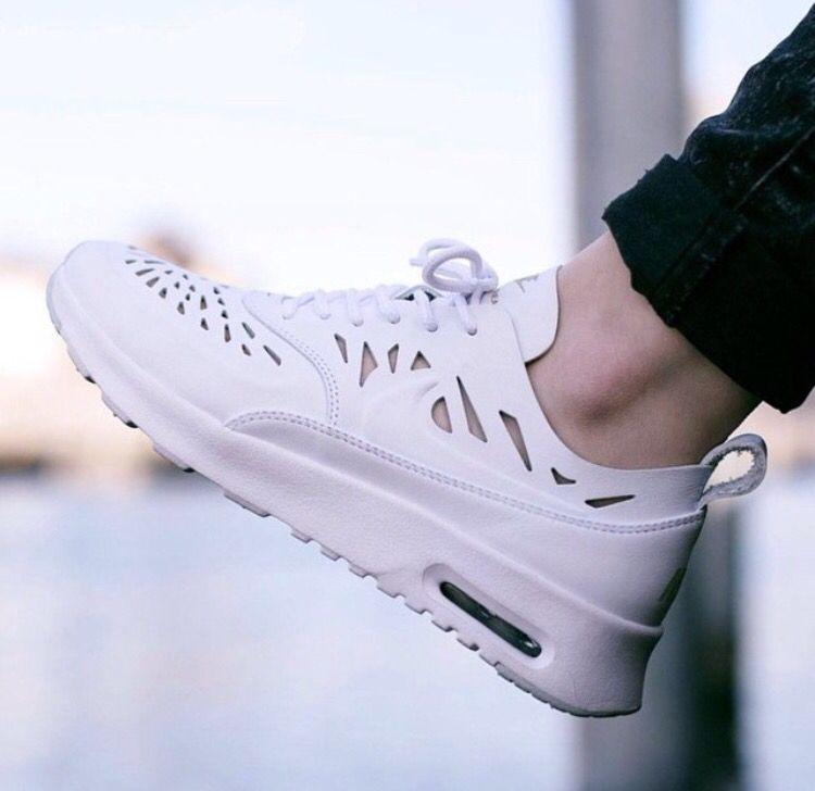 Nike Air Max Thea Joli White   White leather sneakers, Nike