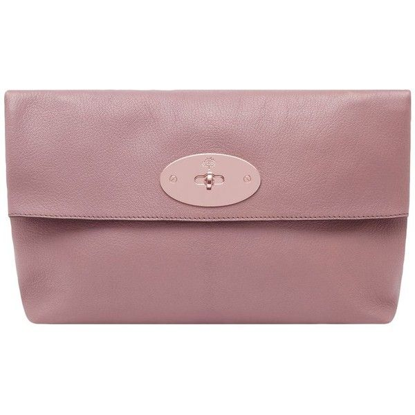 MULBERRY Glossy Goat Clemmie Clutch ($935) ❤ liked on Polyvore