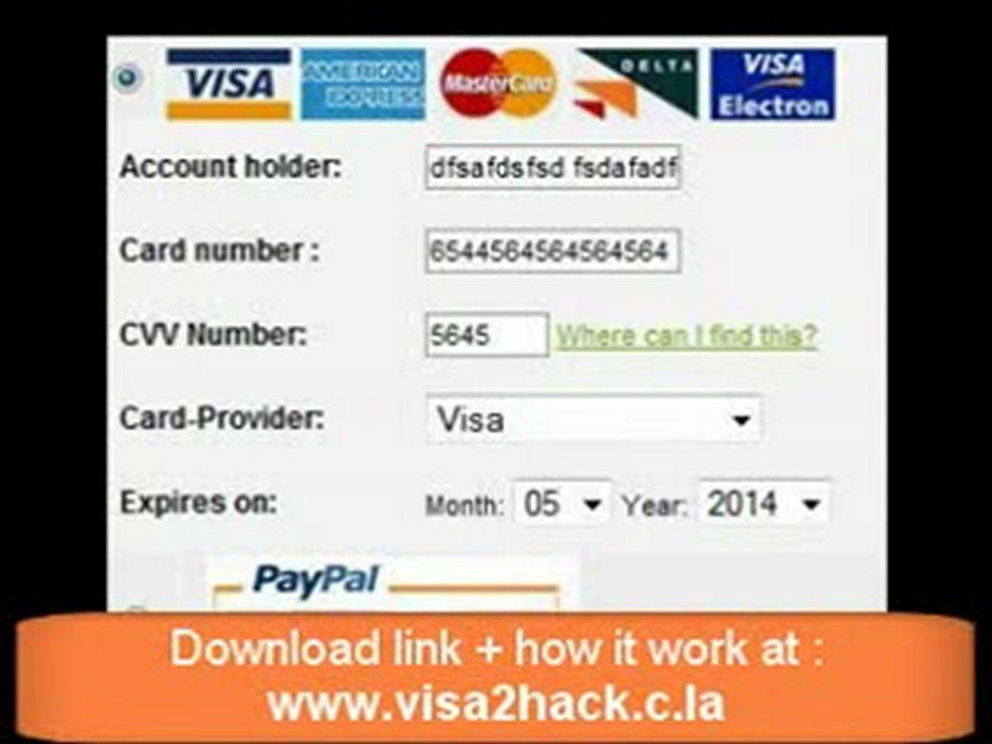 the last version 16 of credit card generator with cvv