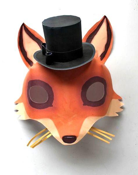 Instant Make Printable Animal Masks Download Mask Templates Now Printable Animal Masks Animal Masks Fantastic Mr Fox