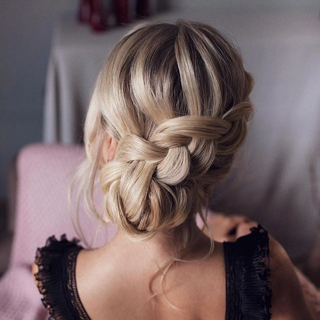 Amazing braided updo hairstyle