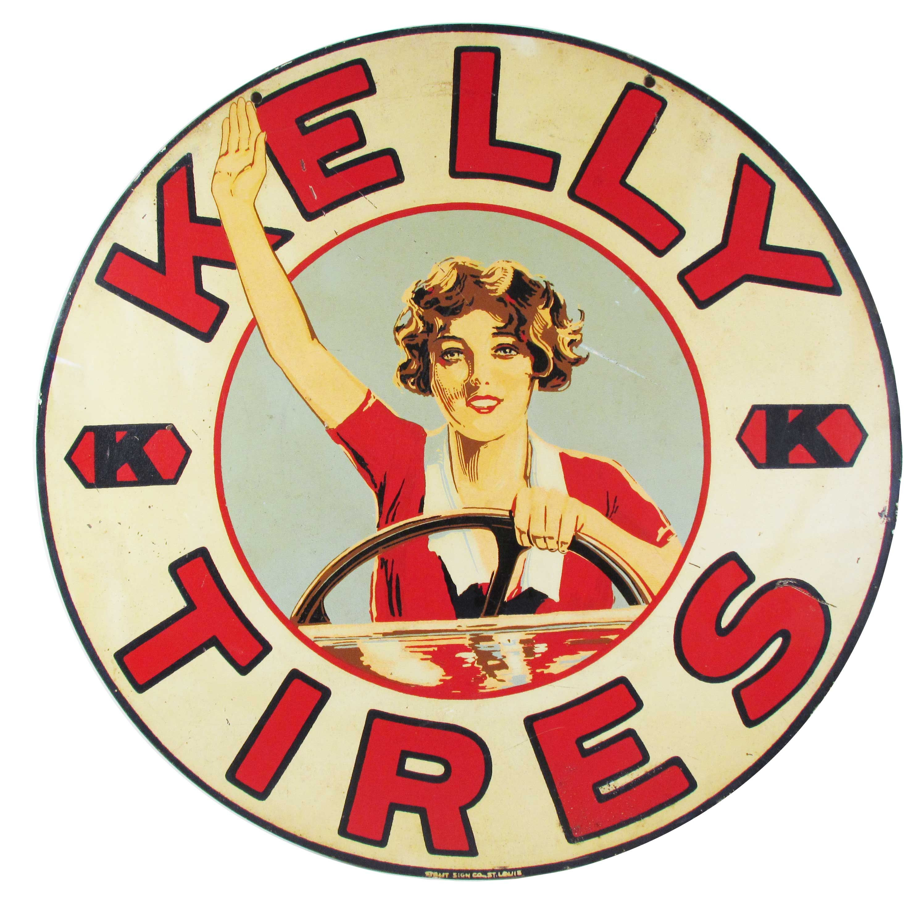 This hard to find Kelly Tires tin sign in good original condition, measuring 24 inches in diameter, is expected to bring between $15,000 and $25,000 at auction. Check out this awesome WorthPoint article!