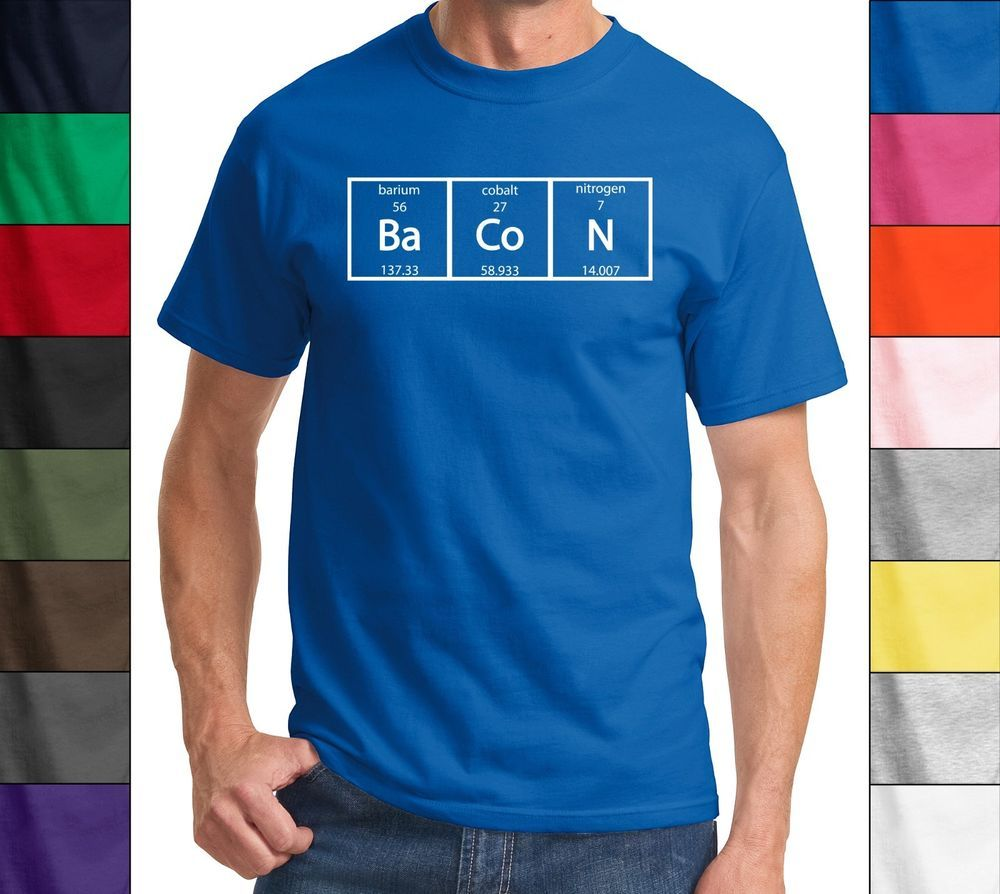 Bacon periodic table science elements funny t shirt teacher gift bacon periodic table science elements funny t shirt teacher gift meal humor tee gamestrikefo Gallery
