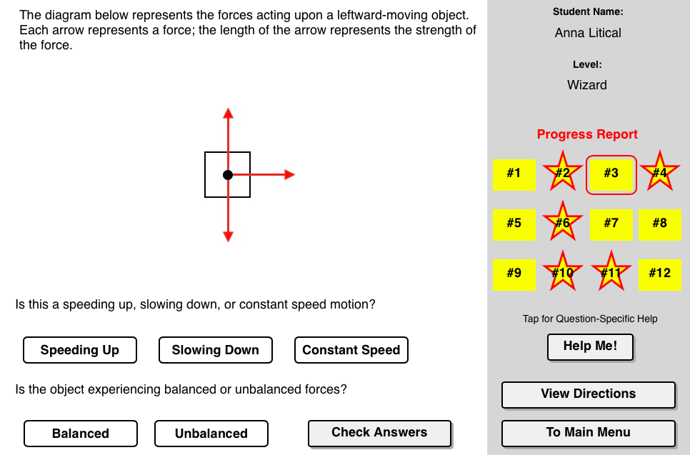 Balanced Vs Unbalanced Forces Concept Builder This Interactive Tool Allows The Learner To Relate Kinematic I Physics Projects Newtons Laws Interactive Tools