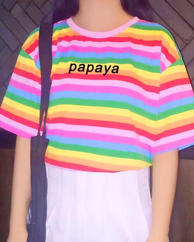 Pre-Order Papaya Rainbow Tee