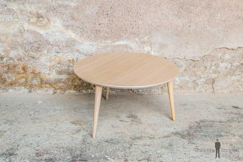 Table Basse Ronde 70cm Chene Produit D Exposition Destockage Table Basse Table Basse Ronde Table