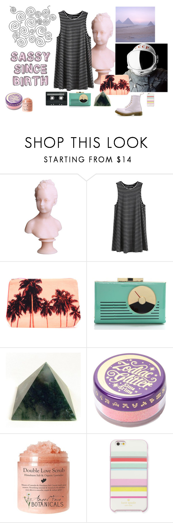"""""""~~~Zoroaster~~~"""" by teodora-teddy ❤ liked on Polyvore featuring KEEP ME, CASSETTE, Dezso by Sara Beltrán, Kate Spade, Lime Crime and Dr. Martens"""