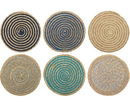 Sets De Table Ronds En Fibres Liberiennes Sea 6 Elem Par Villa D Este Home Tivoli Idees Deco Livraison Rapid Set De Table Rond Set De Table Sets De Table