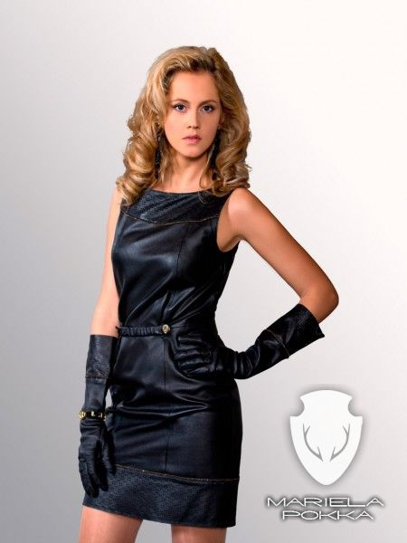 Black Dress With Gloves Of Going Out Collection By Mariela Pokka