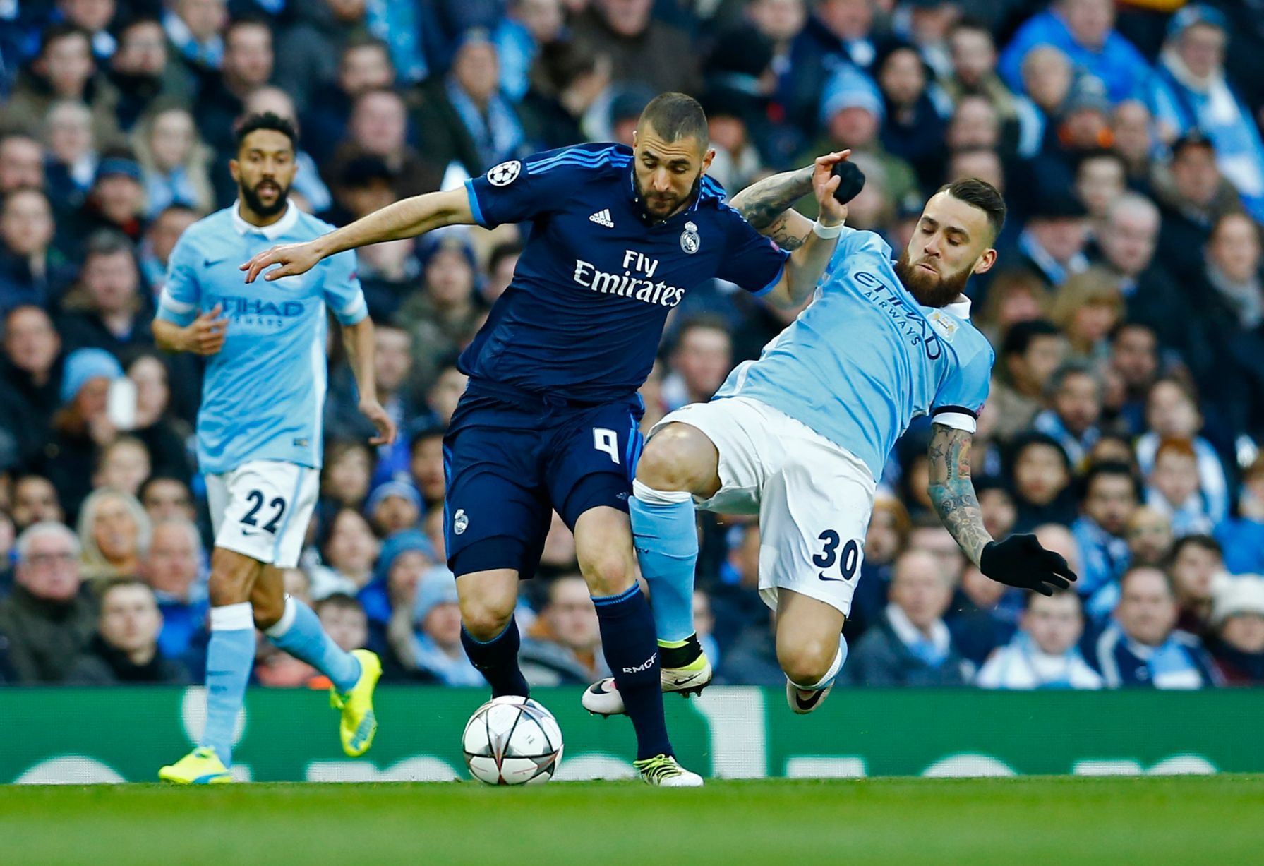Live Manchester City Vs Real Madrid Champions League Semi Final As It Happens Otamendi