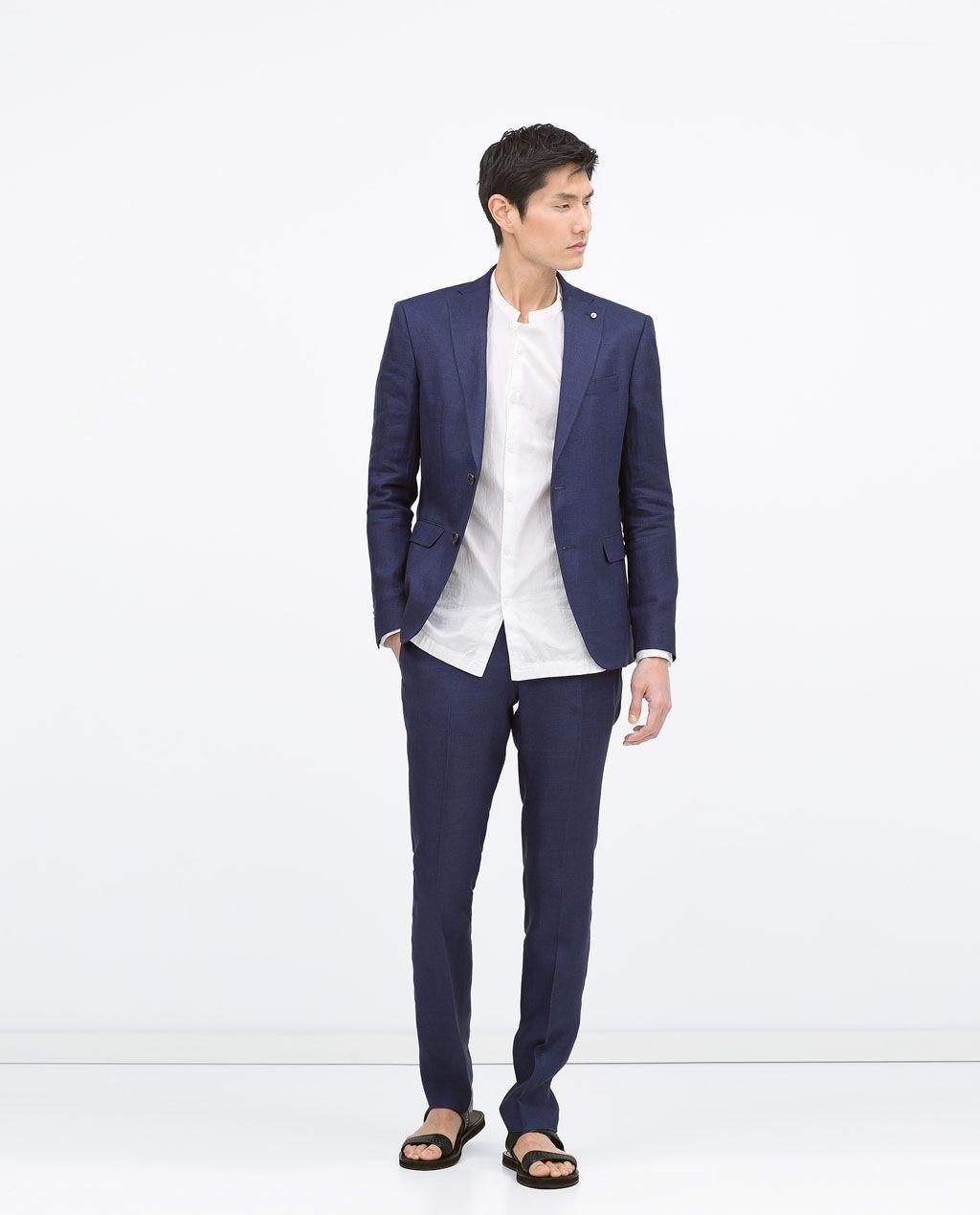 Image 1 de COSTUME EN LIN de Zara | Denim look | Pinterest | Linen ...