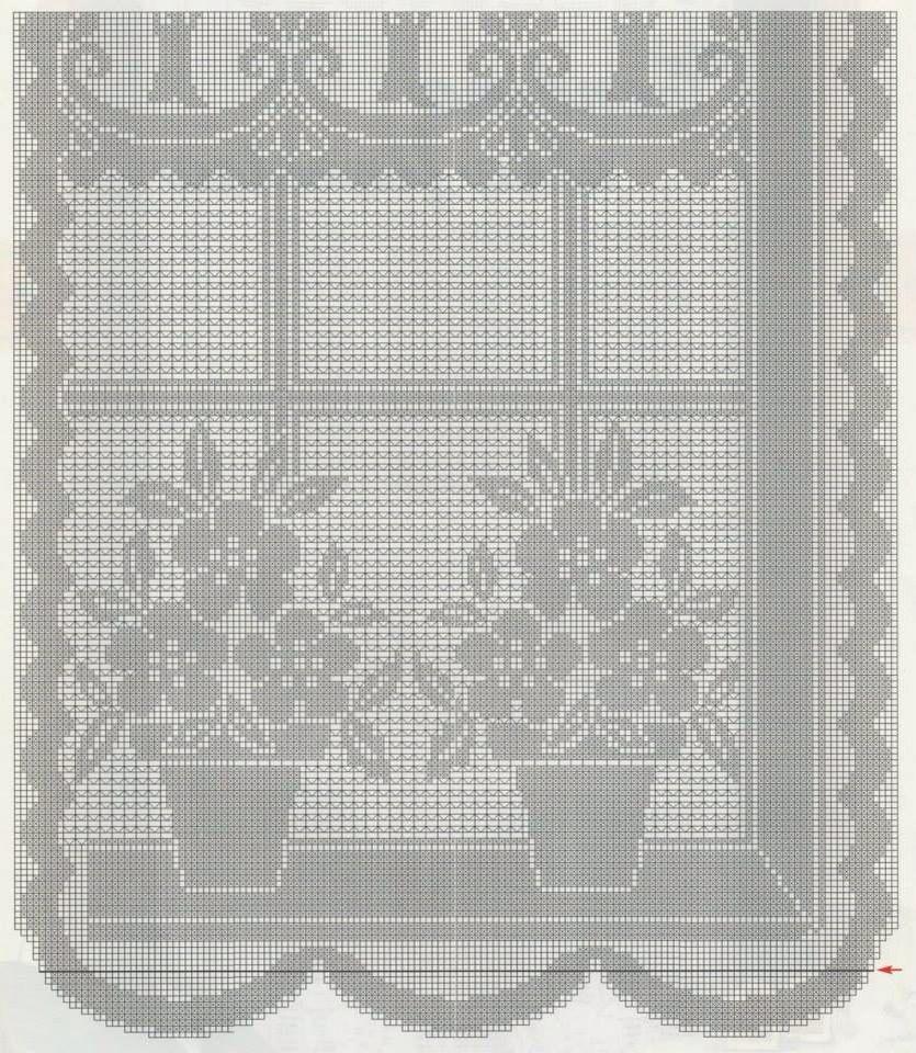 Filet crochet …   cortina   Pinte…