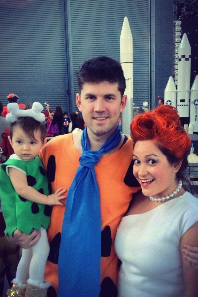 flintstones costume halloween fred wilma and pebbles - Flinstones Halloween