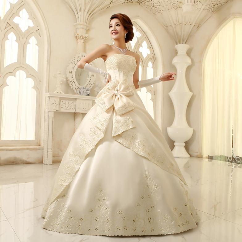 Elegante y formal de la boda vestido de novias las mujeres dulce de ...