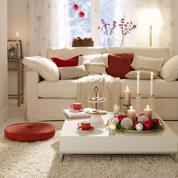 wohnen in rot-weiß Home sweet home Pinterest Wohnzimmer - wohnzimmer gestalten rot