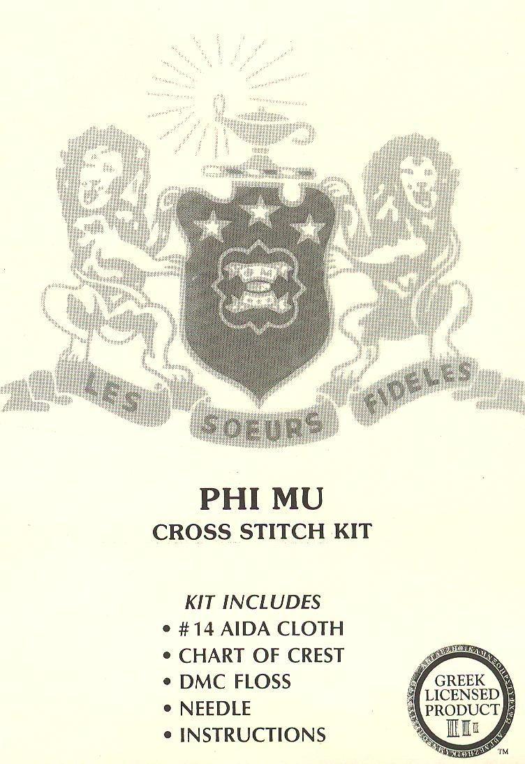 Phi mu crest cross stitch pattern i want it phi mu 3 phi mu crest cross stitch pattern i want it biocorpaavc Images