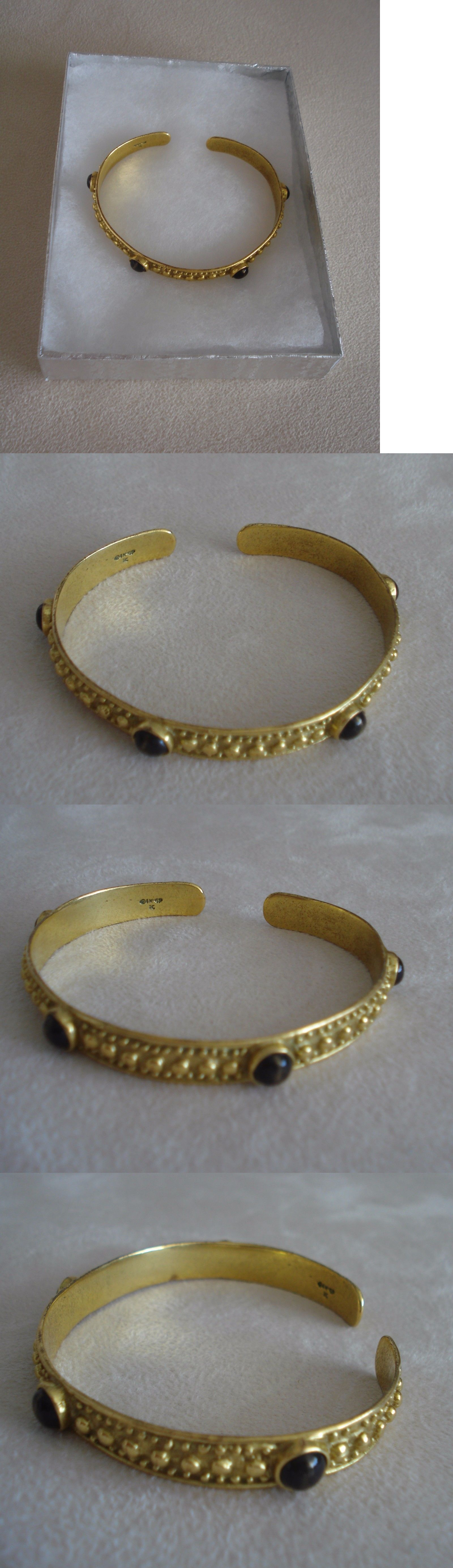 Bracelets 98504 Pre Columbian Replica Bracelet 24K Gold Pl W 4