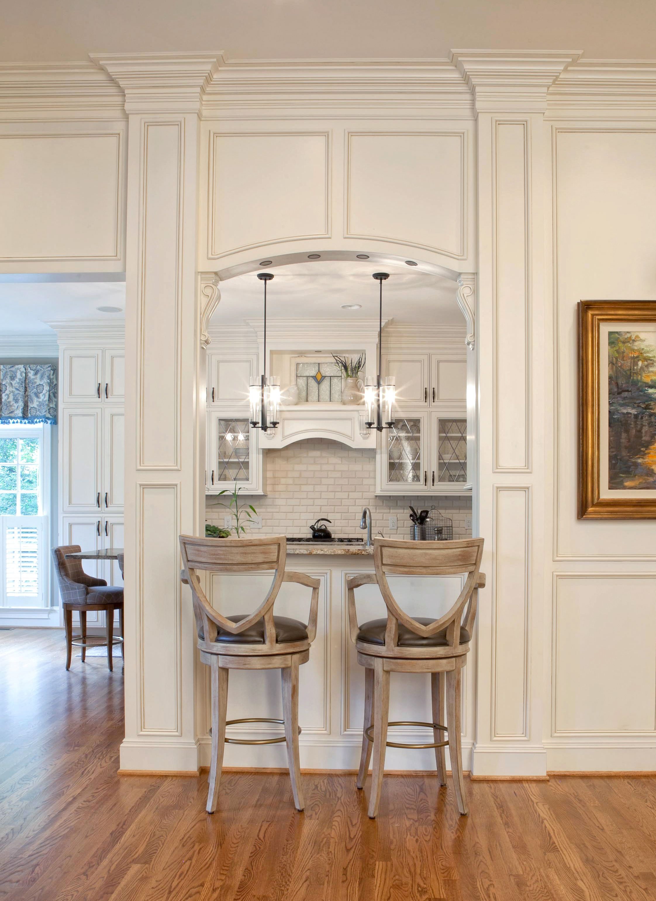 Kitchen, Custom Kitchen, Kitchen Design. Kitchen nook. Let Walker Woodworking build the kitchen of your dreams. Give us a call @ 704-434-0823 or visit us @ www.walker-woodworking.com