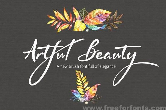 Artful Beauty Brush Font Free Download With Images Brush Font