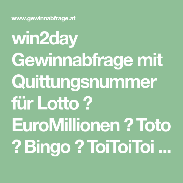 Www Win2day At Euromillionen Gewinnabfrage