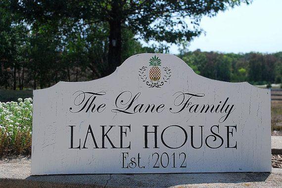 Custom LAKE HOUSE BEACH Cabin signs Home by familyattic on Etsy, $63.95