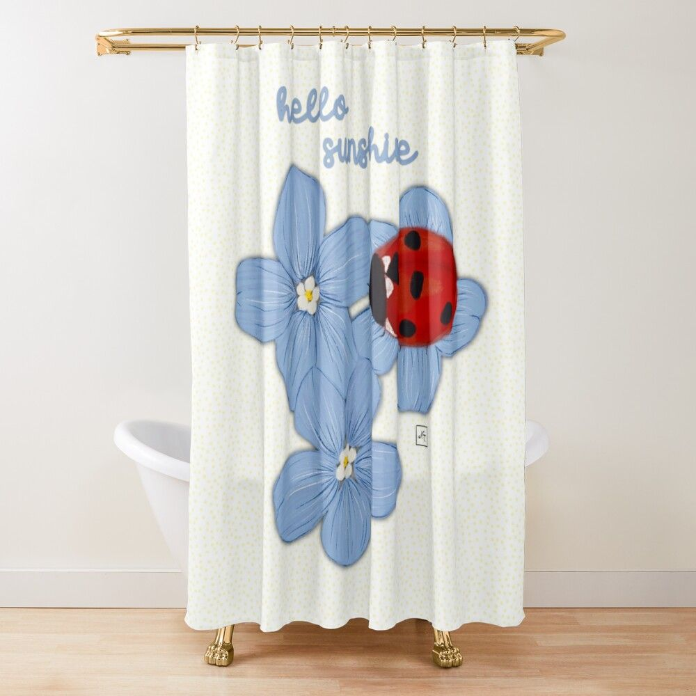 Hello Sunshine Shower Curtain By Anastasia Toska In 2020