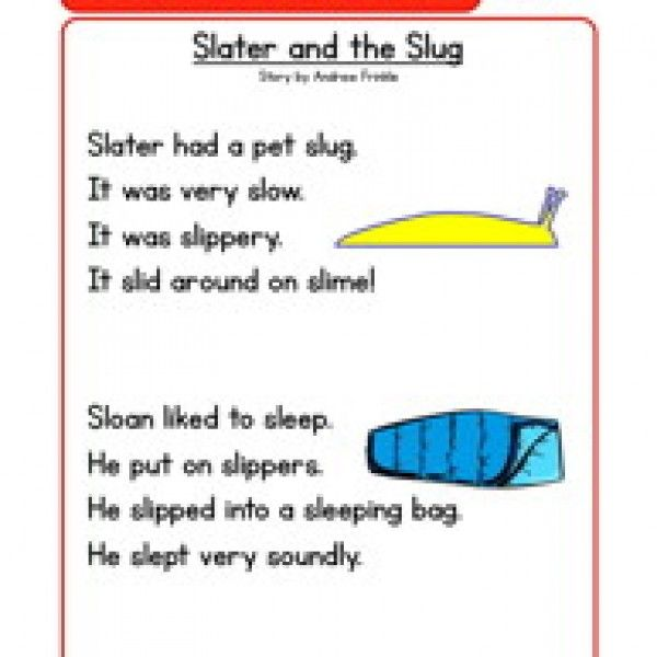Phonics Words Stories SL Reading Comprehension Worksheet in 2018 ...