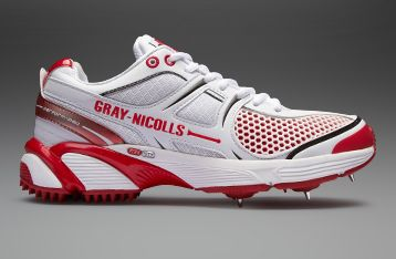 low priced 7cdcc b48e7 Gray-Nicolls Test Opener Pro Batting Cricket Spike - Mens Cricket Footwear  - White-Red