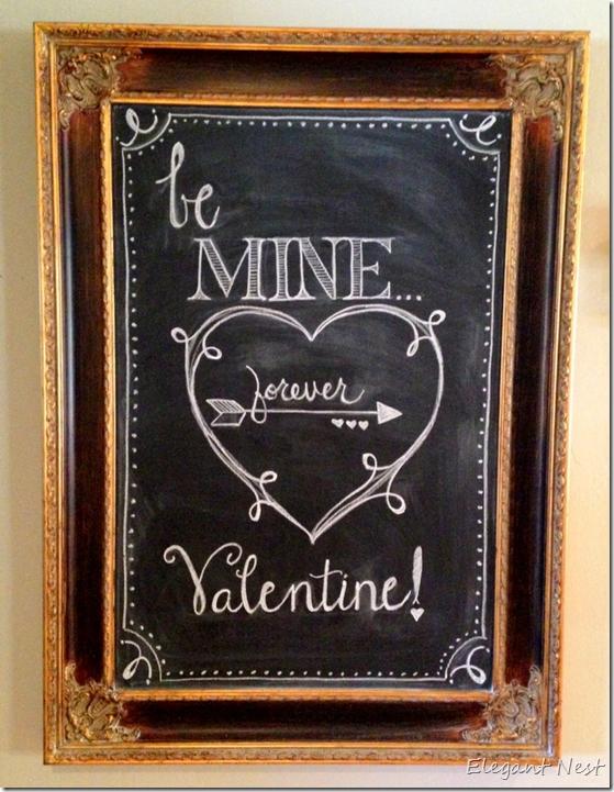 Valentines Day Chalk Art