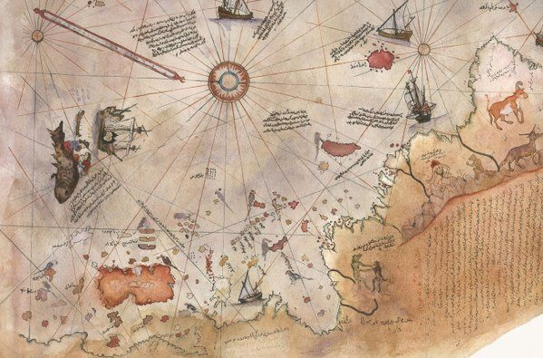 Oldest Map Of America.The World Map Of Piri Reis 1513 It Is Oldest And Most Perfect Map