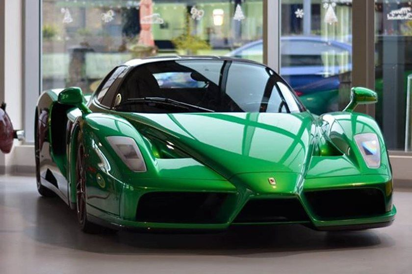 This Is The Only Emerald Green Ferrari Enzo In The World Ferrari Enzo Ferrari Car Ferrari