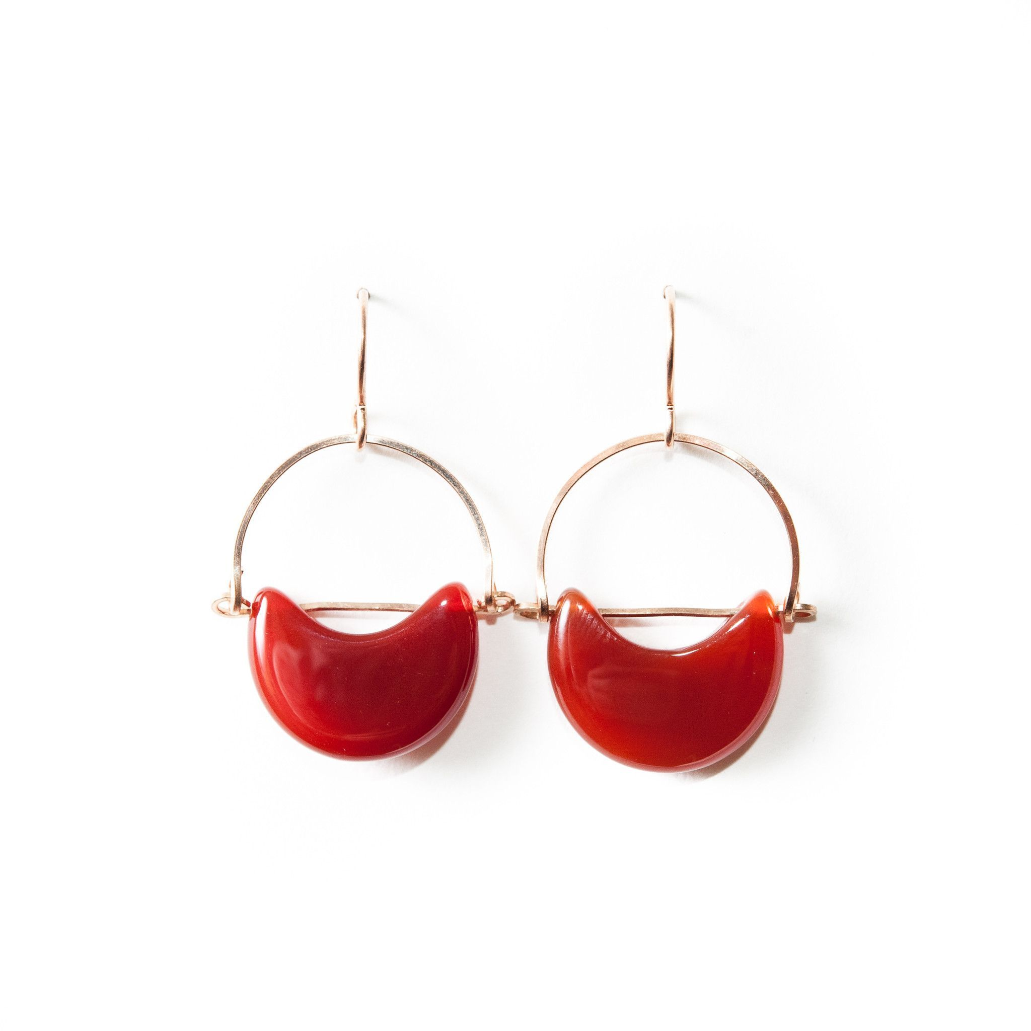 Eclipse Earrings / Carnelian