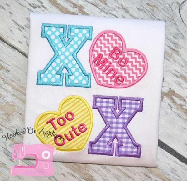 Xoxo Valentine S Day Applique Design From Hooked On Applique Great