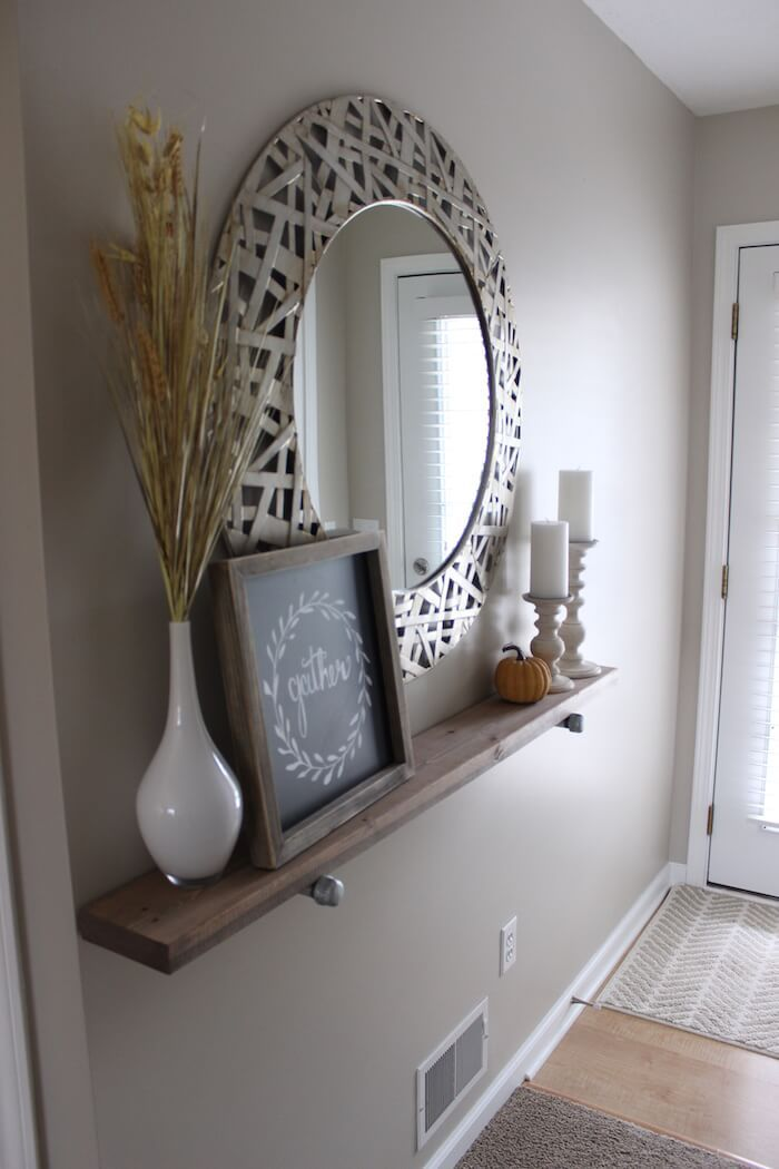 Fresh Hallway Mirror with Hooks