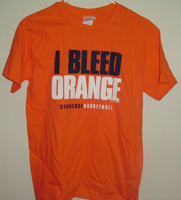 Syracuse university i bleed orange su basketball t shirt for Syracuse orange basketball t shirt