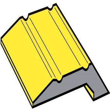 Aluminium Stick Down Parquet Edge Gold 8mm 2.70m Length - Click to enlarge