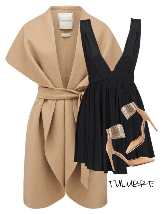 """""""Untitled #156"""" by tulubre ❤ liked on Polyvore featuring Forever New, may and Aquazzura"""