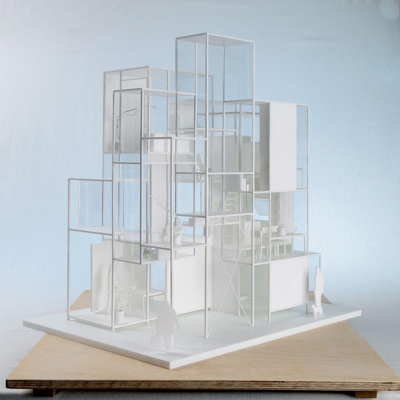 Sou fujimoto lucasz bernacki model na house tokyo japan projetos ccuart Gallery