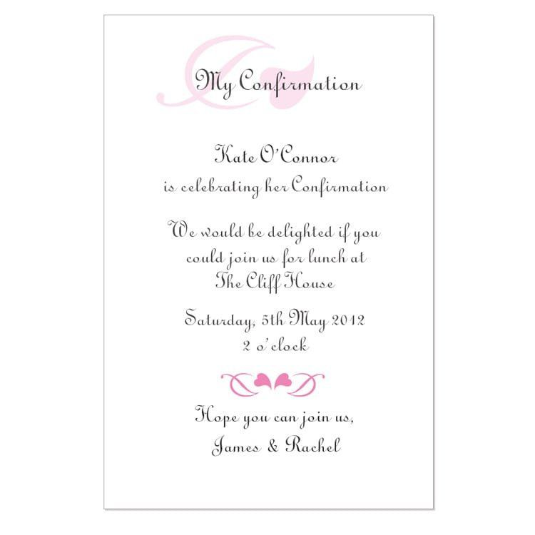 Confirmation Invitations Templates Free Free Confirmation Invitation Template Confirmation Invitations Invitation Template Invitation Text